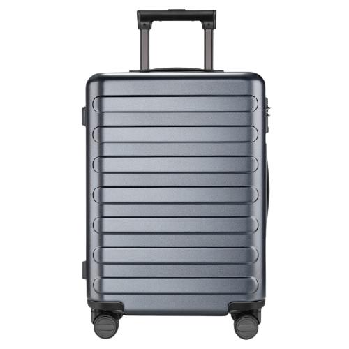 90分 七道杠行李箱拉杆箱  男女商务登机箱 万向轮旅行箱钛金灰 20英寸