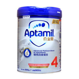 PLUS会员 : Aptamil 爱他美 港版白金 儿童配方奶粉 4段 900g