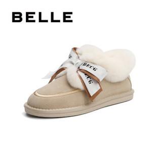 京东PLUS会员 : BeLLE 百丽 22328DM0 羊毛绒雪地靴