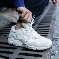 New Balance NB官方情侣款850系列ML850CG潮流复古设计休闲老爹鞋(45、米白色 ML850CG)