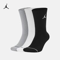 Jordan 官方JORDAN EVERYDAY MAX CREW 运动袜(3 双)SX5545(L、100白/白/白/(黑))