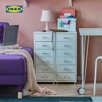 IKEA宜家HELMER海尔默抽屉柜桌下斗柜收纳柜储物柜卧室电视边柜(蓝色)