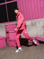 adidas 阿迪达斯 三叶草 丁禹兮同款 H09351 男士运动套头衫