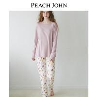 PEACH JOHN/蜜桃派  暖暖全棉护腹家居服套装(M、花朵印花)