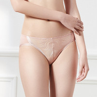Triumph/黛安芬风格棕榈刺绣舒适贴合性感低腰三角裤74-6613(L、肉粉红-WJ)