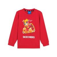 SKECHERS 斯凯奇 联名款 男童针织保暖套头卫衣