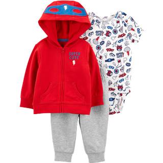 Carter's 孩特 男女宝宝超人哈衣外套裤子3件套