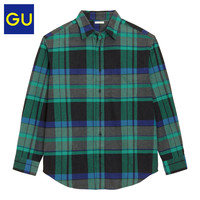 限尺码:GU 极优 328451 法兰绒衬衫