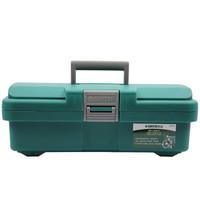 世达(SATA)95161 增强加厚型塑料工具箱 整理箱 车载储物收纳维修工具盒15英寸