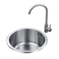 ARROW 箭牌卫浴 单槽·AE554145G 304不锈钢厨房水槽 带龙头