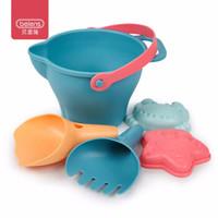貝恩施 兒童玩具 夏日寶寶沙灘戲水玩具挖沙軟膠沙灘玩具5件套B900 *7件