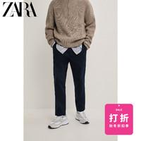 ZARA 新款 男裝 修身版型彈力腰休閑褲 09632308401