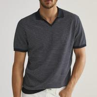 20日0点:Massimo Dutti 00940453401 条纹棉质POLO衫