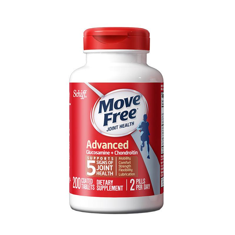 百亿补贴 : Move Free 益节 氨糖软骨素 红瓶 200粒*2瓶