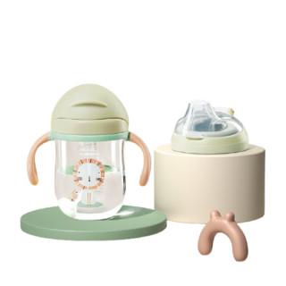 BabyCare 儿童重力球防漏学饮杯双杯盖 吸管+鸭嘴