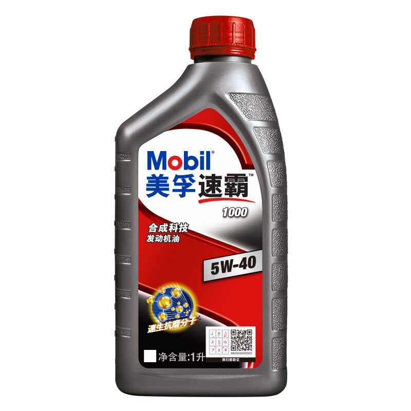 Mobil 美孚 速霸1000系列 车用润滑油 5W-40 SN 1L