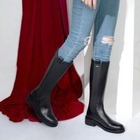 SATCHI 沙驰 10D33022R010 女士低跟骑士靴