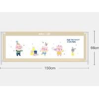 百亿补贴:BabyBBZ 棒棒猪 儿童防摔床围栏护栏 1.5m