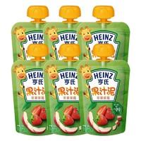 Heinz 亨氏 經典系列 果泥 2段 蘋果草莓 120g*6包