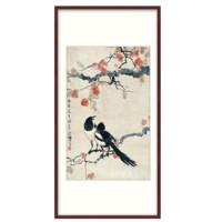 徐悲鴻-雙喜圖 中式裝飾畫 有框 版畫 國畫 墻畫壁畫
