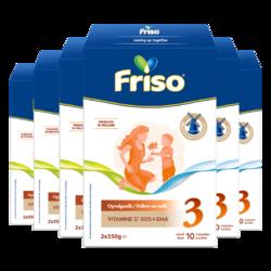 Friso 美素佳儿 幼儿配方奶粉 3段 700g 6盒装 *2件
