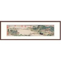 中式装饰画国画 办公室山水画挂画 名家字画 上睿携琴访友图