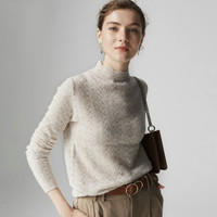 金丽杉 LS5115Y265 100%羊毛半高领女式羊毛衫