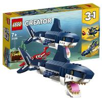 百亿补贴:LEGO 乐高 Creator3合1创意百变系列 31088 深海生物
