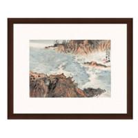陆俨少《大江秋易感》 63×51cm装饰画 宣纸