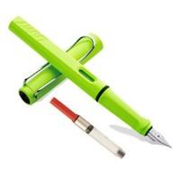 LAMY 凌美 Safari狩猎者 EF尖钢笔 绿色 含吸墨器