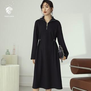 FANSILANEN 范思蓝恩 Z204787 女士高腰毛衣裙