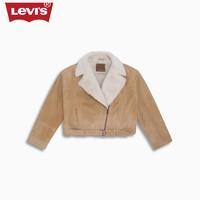 Levi's李维斯女士翻领羊皮革加绒机车夹克24786-0000