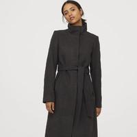 H&M 0789119 女士双面呢子大衣
