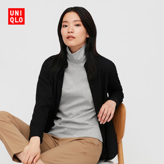 UNIQLO 优衣库 428311 女装弹力棉质两翻领T恤