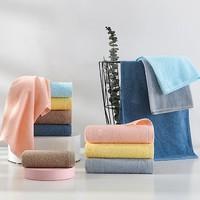 洁玉 经典素色系列 纯棉毛巾 6条装