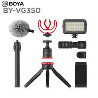 BOYA 博雅麥克風BY-MM1手機直播指向性電容麥單反相機外接話筒vlog視頻拍攝網課收錄音機頂麥 BY-VG350