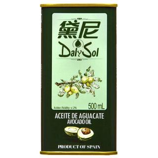 京东PLUS会员 : DalySol 黛尼 低温初榨牛油果油 500ml *2件