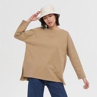 Gap 盖璞 656453 女装圆领纯棉长袖T恤