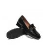 Teenmix 天美意 TEFLFX04DU1CQ0 女士复古方头粗跟牛皮革单鞋