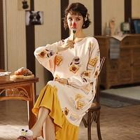 纯棉:彩裡卡纳   女士纯棉睡衣
