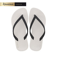 ipanema RJ系列巴西进口休拖鞋情侣款拖鞋设计师款女鞋 黑/米灰 EUR(欧码)39/40 *2件