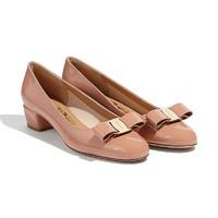 考拉海购黑卡会员:SALVATORE FERRAGAMO 菲拉格慕 VARA系列 女士蝴蝶结中跟鞋
