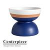 现货进口/意大利BITOSSI意式简约CONTER手工双色亚光白蓝釉摆件