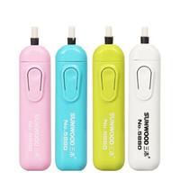 SUNWOOD 三木 电动橡皮擦 2个装 颜色随机 送1卡橡皮头