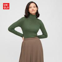 UNIQLO 优衣库 428860 女款罗纹两翻领羊毛衫