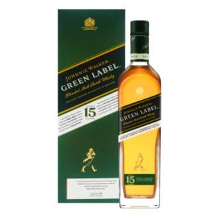 京东PLUS会员 : JOHNNIE WALKER 尊尼获加 绿牌绿方威士忌 750ML+ 尊尼获加 黑方 黑牌 750ml*1件