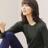 UNIQLO 优衣库 428307 弹力棉质长袖T恤