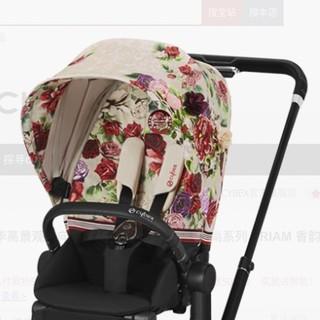 Cybex 赛百适 Priam时尚系列 婴儿推车 香韵白 魔法黑车架