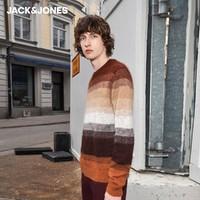 JACK JONES 杰克琼斯 219325507 男士条纹羊毛混纺衫