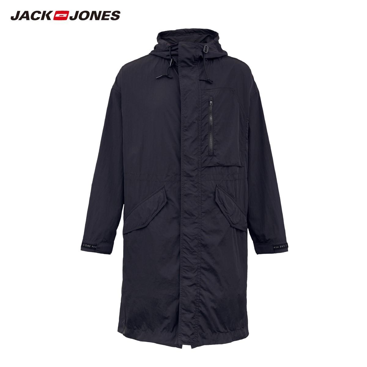 JackJones 杰克琼斯 219321547 男士中长款风衣外套中长款风衣外套